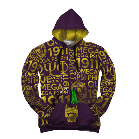 Image of Omega Psi Phi 1911 Pop Top Hoodie