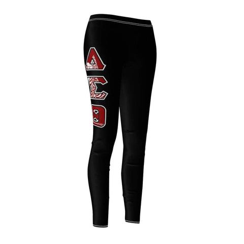 Image of Delta Sigma Theta  GREEK INITIALS Women's Cut & Sew Casual Leggings