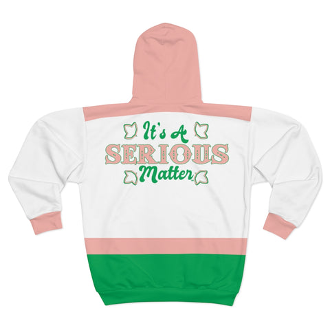 Image of Alpha Kappa Alpha Its a Serious Matter Hoodie