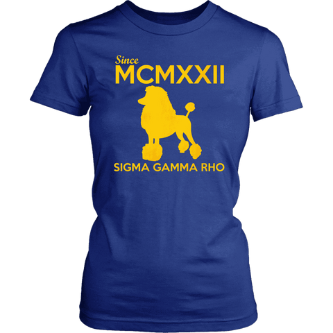 Sigma Gamma Rho MCMXXII Tee - Unique Greek Store