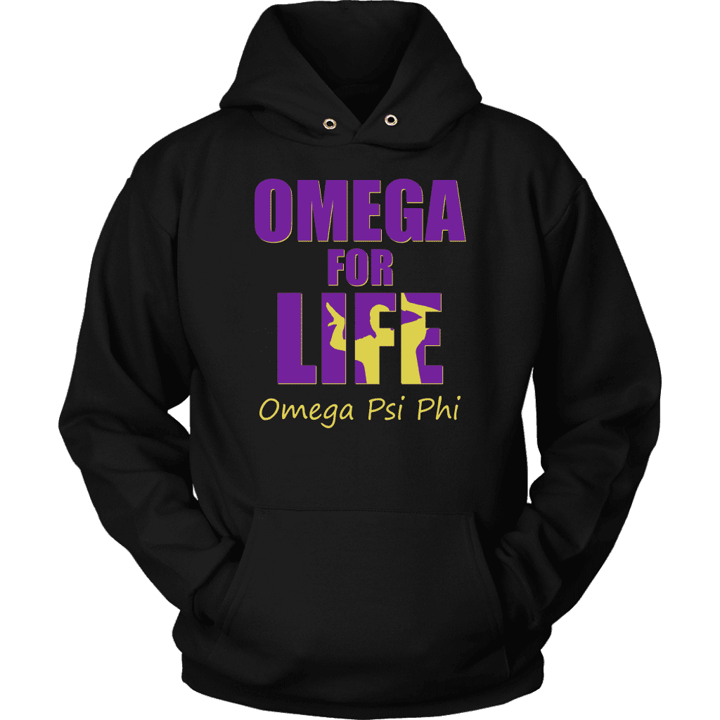 Omega Psi Phi Tagline Unisex Hoodie - Unique Greek Store
