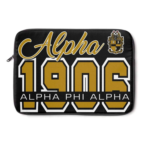 Image of Alpha Phi Alpha Founding Year Laptop Sleeve - Unique Greek Store