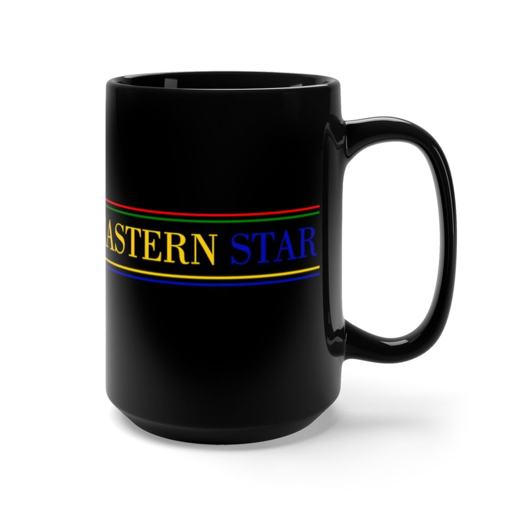 Order of the Eastern Star Black Mug