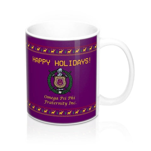 Image of Omega Psi Phi Christmas Mugs - Unique Greek Store