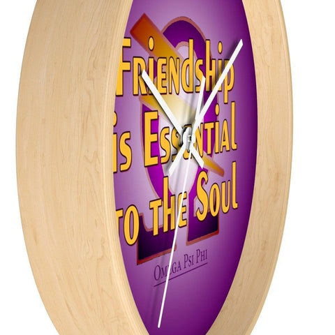 Omega Psi Phi Wall Clock - Unique Greek Store