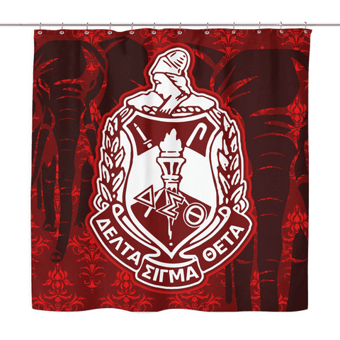 Delta Sigma Theta Shower Curtain - Unique Greek Store