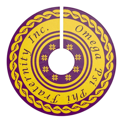 Image of Omega Psi Phi Christmas Tree Skirt - Unique Greek Store