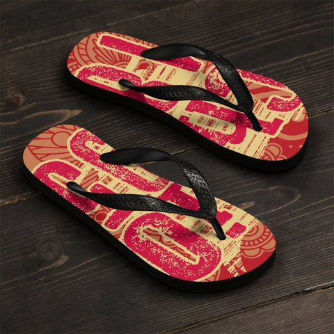 Image of Chi Omega Flip Flops - Unique Greek Store