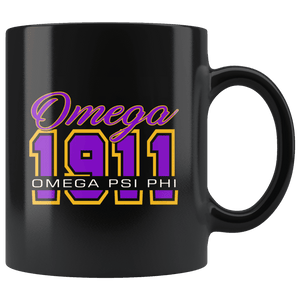 Omega Psi Phi Black Mug - Unique Greek Store