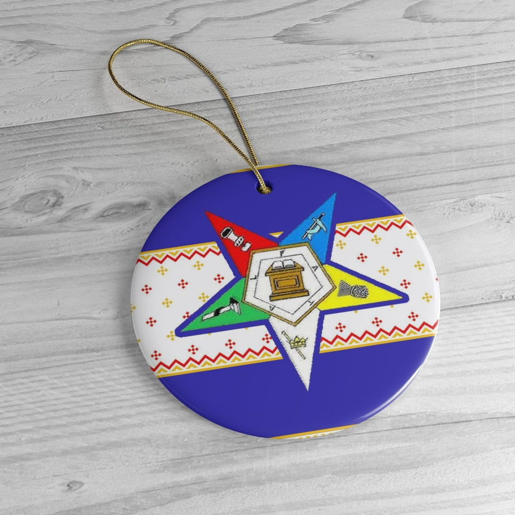 Order of the Eastern Star Christmas Decor Ornaments