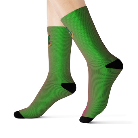 Alpha Kappa Alpha Sorority Sublimation Socks