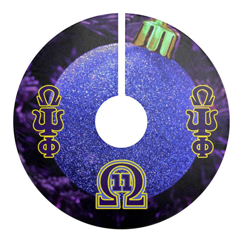 Omega Psi Phi Holiday Decor Tree Skirt