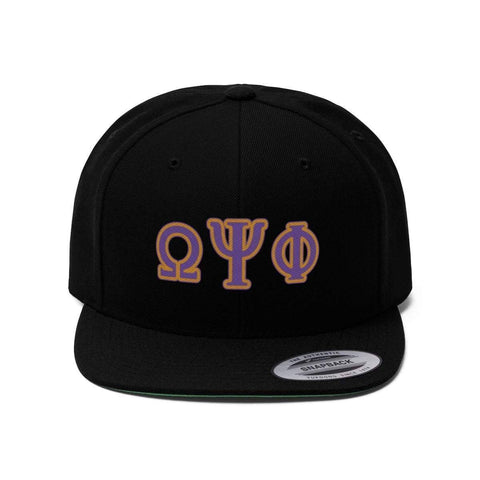 Image of Omega Psi Phi Flat Bill Hat