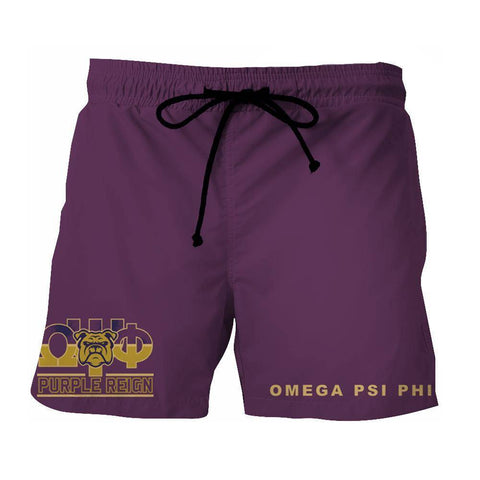 Omega Psi Phi Fraternity Beach Shorts