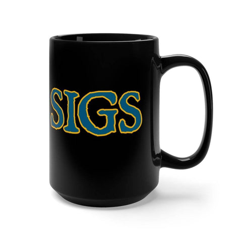 Image of Sigma Chi Black Mug - Unique Greek Store