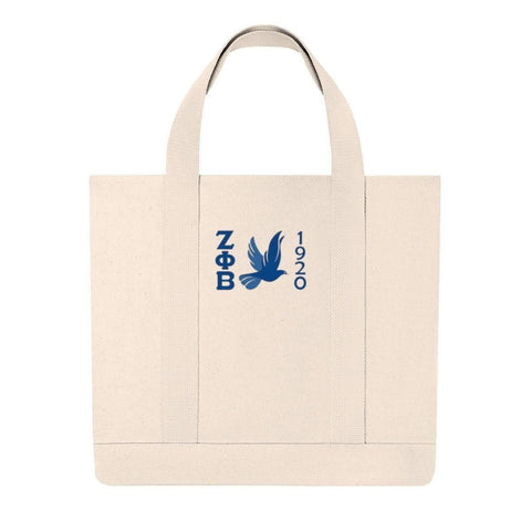 Zeta Phi Beta Embroidery Tote