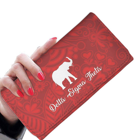 Image of Delta Sigma Theta Womens Wallet - Unique Greek Store