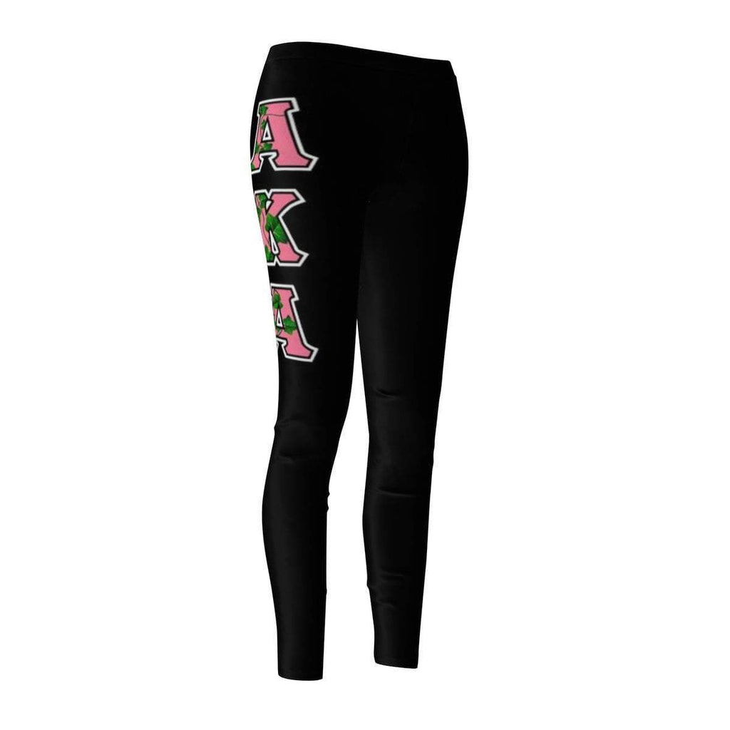 Alpha Kappa Alpha GREEK INITIALS Women's Cut & Sew Casual Leggings - Unique Greek Store