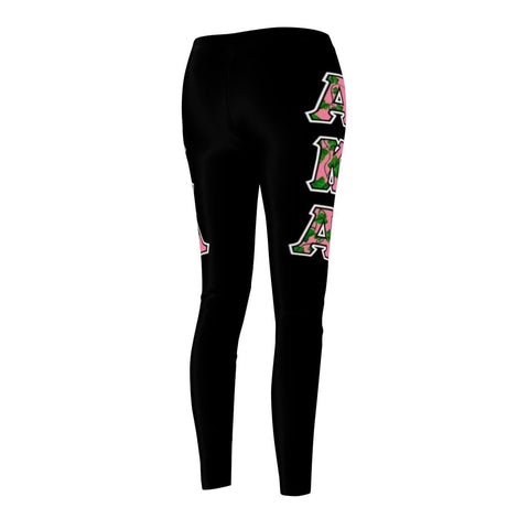 Image of Alpha Kappa Alpha GREEK INITIALS Women's Cut & Sew Casual Leggings - Unique Greek Store