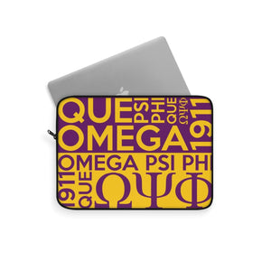 Omega Psi Phi Laptop Sleeve