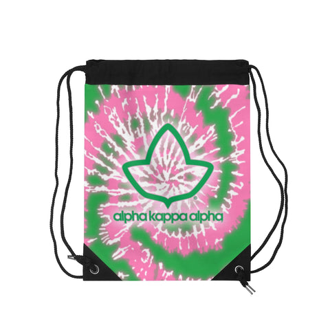Image of Alpha Kappa Alpha Tie Dye Drawstring Bag
