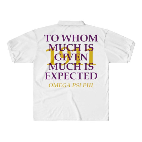 Omega Psi Phi 1911 Polo Shirts - Unique Greek Store