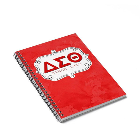 Image of Delta Sigma Theta Spiral Notebook - Ruled Line - Unique Greek Store
