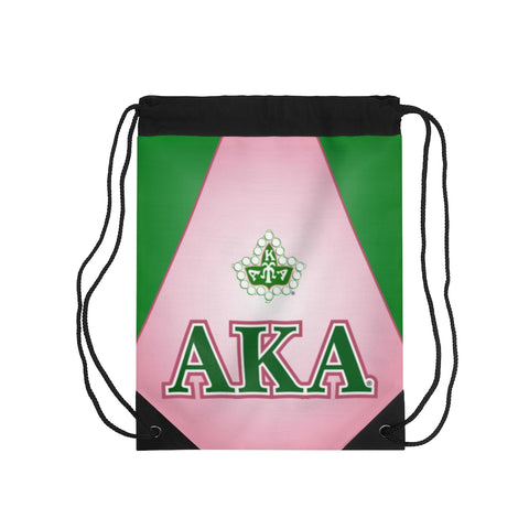 Alpha Kappa Alpha Ivy Leaf Drawstring Bag