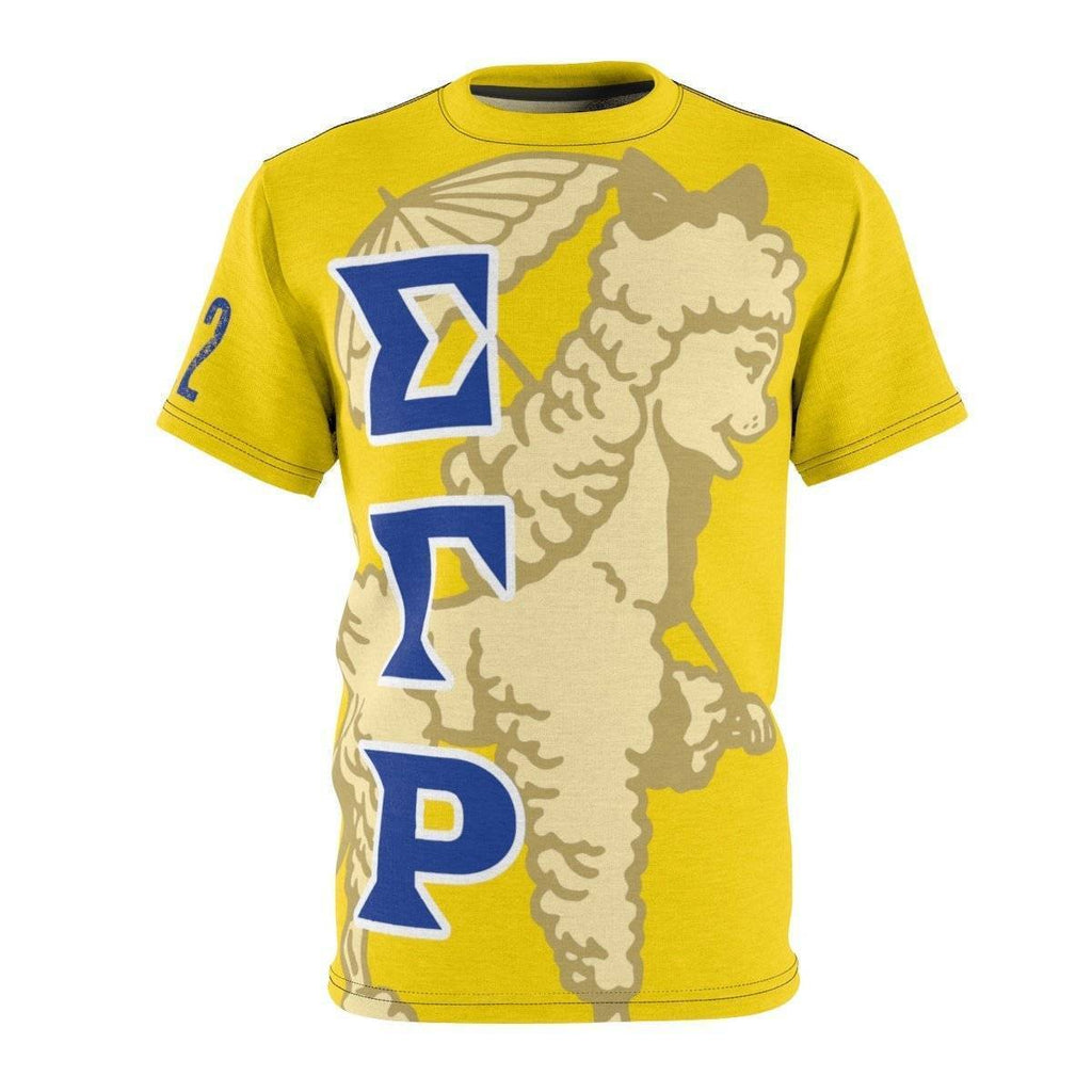 Sigma Gamma Rho AOP Cut & Sew Tee - Unique Greek Store