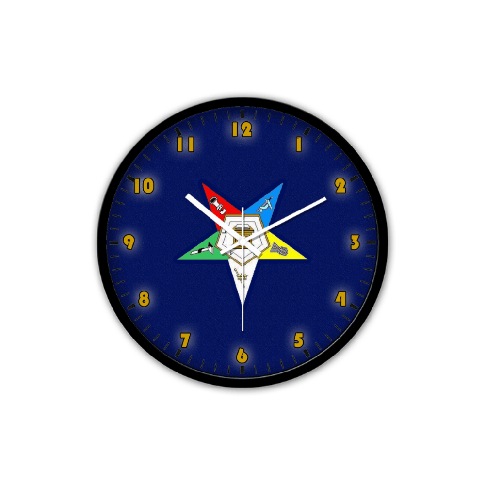 Order of the Eastern Star Emblem Wall Clock