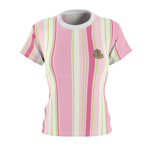 Image of Alpha Kappa Alpha Striped Tee