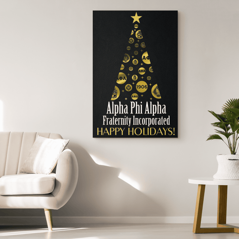 Alpha Phi Alpha Christmas Wall Canvas - Unique Greek Store