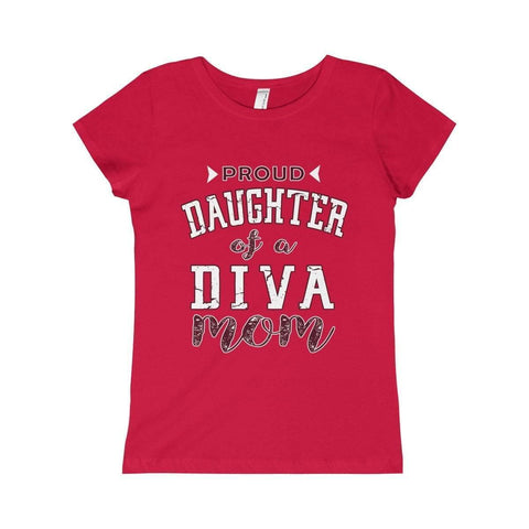 Delta Sigma Theta Girls Princess Tee Proud Logo II - Unique Greek Store