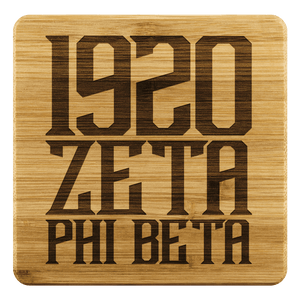 Zeta Phi Beta Square Coaster