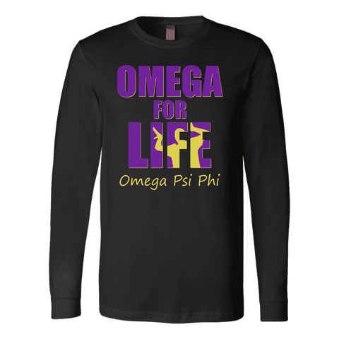 Omega Psi Phi Tagline Canvas Long Sleeve Shirt - Unique Greek Store