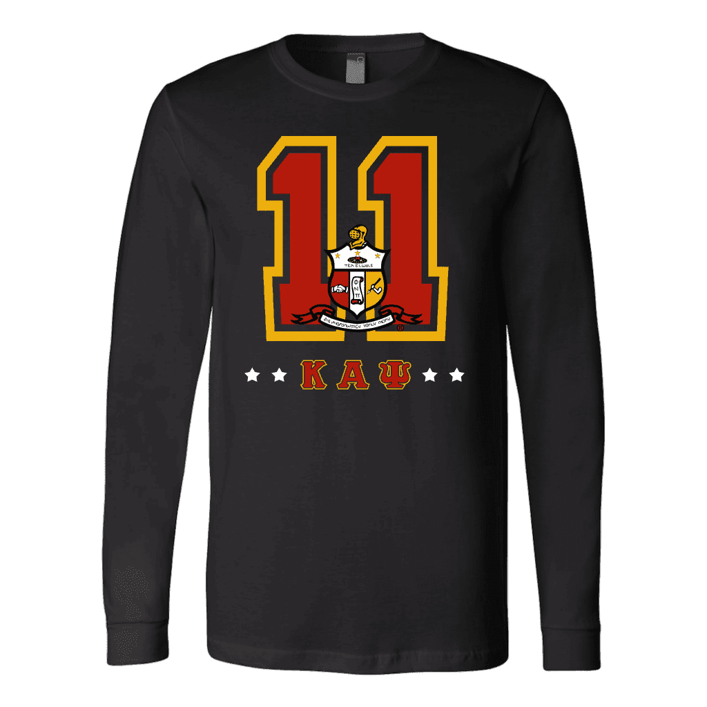 Kappa Alpha Psi Founding Year Canvas Long Sleeve Shirt - Unique Greek Store