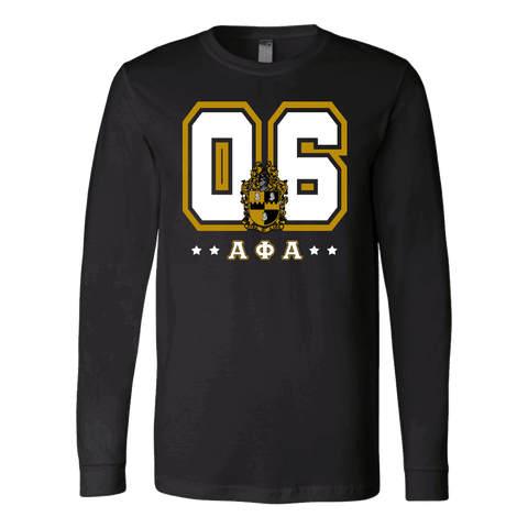 Alpha Phi Alpha Founding Year Canvas Long Sleeve Shirt - Unique Greek Store