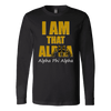 Alpha Phi Alpha Tagline Canvas Long Sleeve Shirt - Unique Greek Store