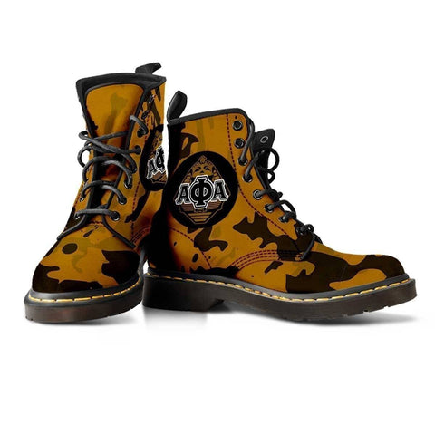 Image of Alpha Phi Alpha Leather Boots - Unique Greek Store