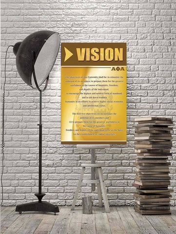 Image of Alpha Phi Alpha Vision Wall Art - Unique Greek Store