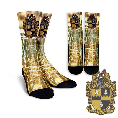 Alpha Phi Alpha Crew Socks - Unique Greek Store