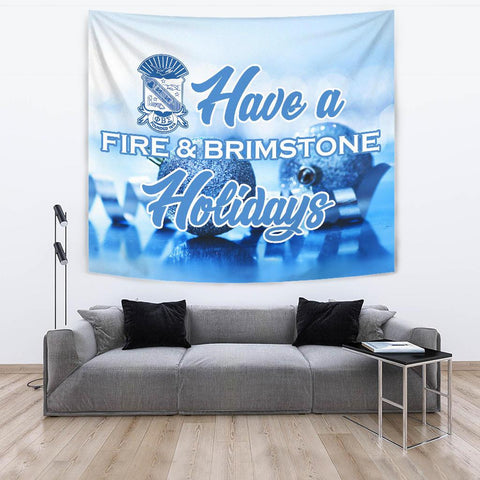 Phi Beta Sigma Christmas Holidays Tapestry