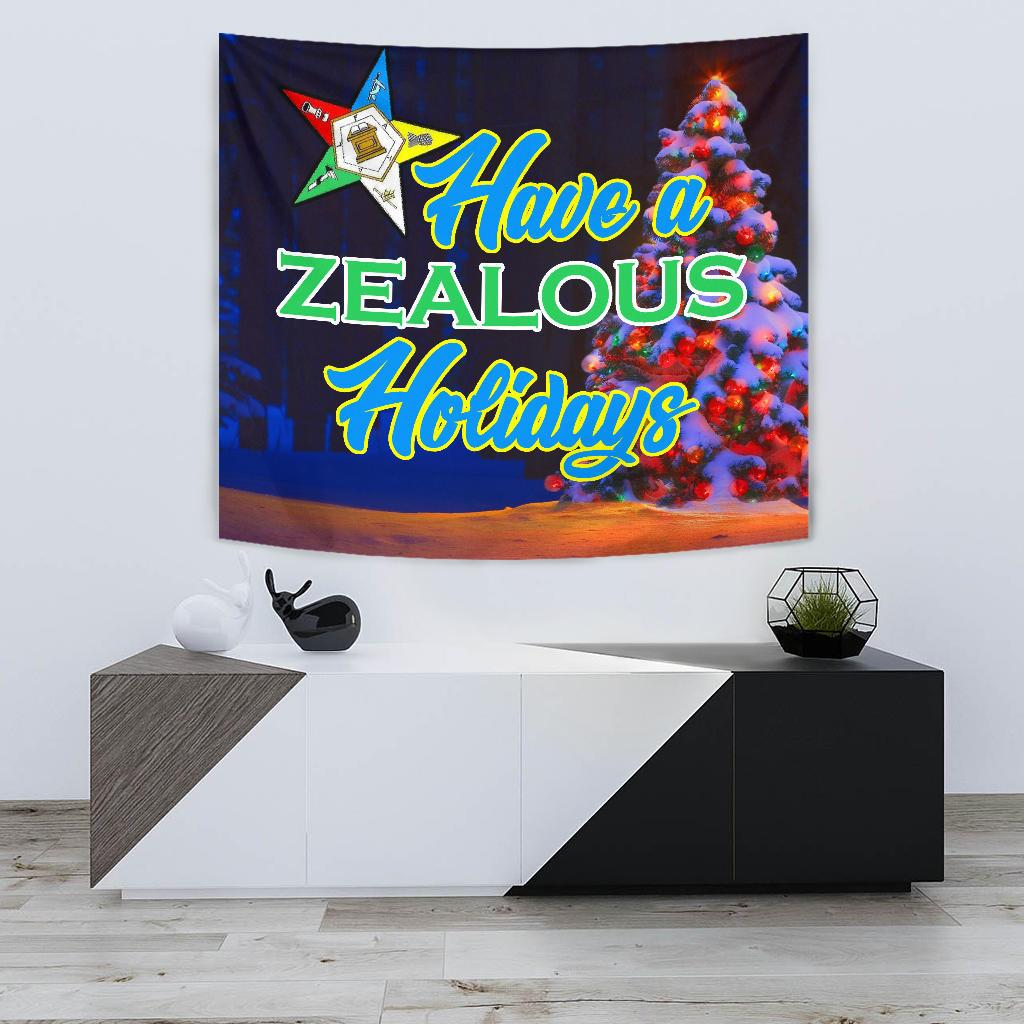 Order of the Eastern Star Christmas Holidays Tapestry