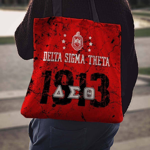 Image of Delta Sigma Theta Founding Year Tote Bags - Unique Greek Store