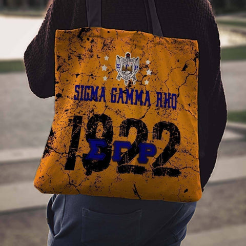 Image of Sigma Gamma Rho Founding Year Tote Bags - Unique Greek Store