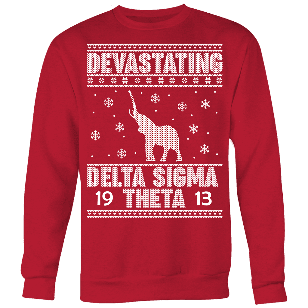 Delta Sigma Theta 2018 Ugly Christmas Sweater - Unique Greek Store