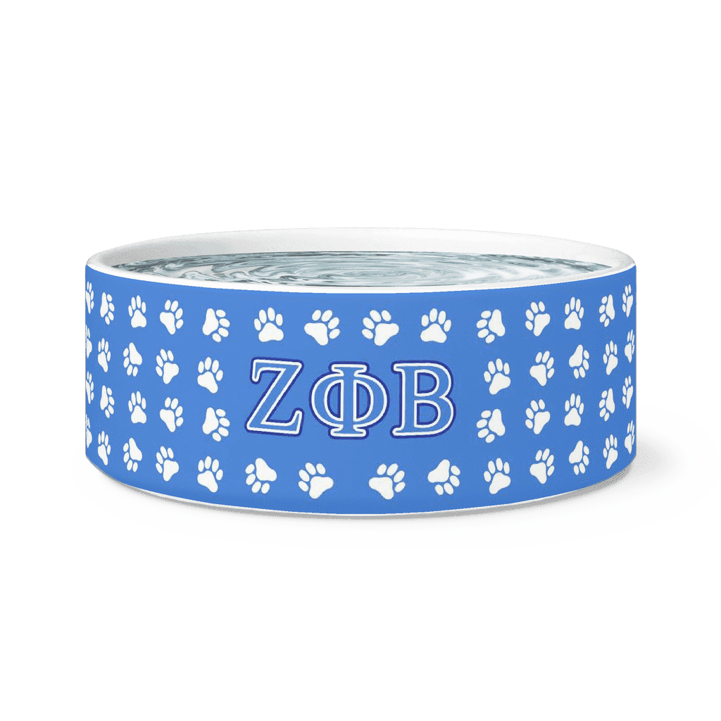 Zeta Phi Beta Dog Bowl - Unique Greek Store