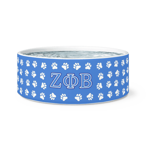 Image of Zeta Phi Beta Dog Bowl - Unique Greek Store
