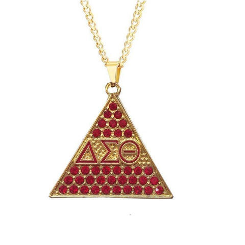 Delta Sigma Theta Chain Necklace Pendant