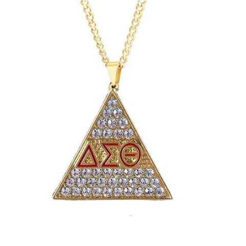 Image of Delta Sigma Theta Chain Necklace Pendant